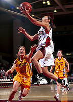 STANFORD, CA - NOVEMBER 21: Milena Flores of the Stanford Cardinal during Stanford's 95-82 win over the Iowa State Cyclones on November 21, 1999 at Maples Pavilion in Stanford, California.