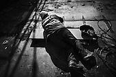 Gdansk 24 September 2008 Poland.<br /> The Gdansk Shipyard.<br /> The Polish shipyard industry is in a deep crisis. The Gdansk and Szczecin shipyards are under the threat of liquidation. The battle between the Polish government, creditors and European Union rages on. Spyard workers live under immense pressure of dissmissals. They are completely unsure of their future; they leave, search for work in England, Irland, Norway. During last two months over 25 % of workers left the Szczecin shipyard. The trade union Solidarnosc, with its cradle shipyard in Gdansk fought for free Poland 27 years ago. Today it fights for the survival of the shipyard.It organizes manifestations and pickets.<br /> In the 70's ansd 80's nearly 20 thousand people worked in the shipyard. Today only 3 thousand are left and a ghast feeling of emptiness in most of the shipyard's sectors.<br /> ( &copy; Filip Cwik / Napo Images for Newsweek Poland ).<br /> <br /> Gdansk 24 wrzesnia 2008 Polska.<br /> Polski przemysl stoczniowy pograzony jest w glebokim kryzysie. Stoczniom z Gdanska i Szczecina grozi likwidacja. Gra sie toczy pomiedzy Polskim rzadem, wierzycielami a Unia Europejska. Stoczniowcom groza zwolnienia grupowe. Nie sa pewni przyszlosci; odchodza, wyjezdzaja do Anglii, Irlandii, Norwegii. W ciagu dwoch miesiecy ze stoczni Szczecinskiej zwolnilo sie 25% pracownikow. Zwiazek zawodowy Solidarnosc, ktorej kolebka jest zaklad w Gdansku 27 lat temu walczyl o wolna Polske, dzis walczy o utrzymanie zakladu pracy. Organizuje protesty manifestacje i pikiety.<br /> ( &copy; Filip Cwik / Napo Images dla Newsweek Polska )