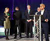 Mayor of London and London Assembly results announcement at City Hall, London, Great Britain <br /> 6th May 2016 <br /> <br /> <br /> Sian Berry - Green Party <br /> <br /> Paul Golding - Britain First <br /> <br /> Zac Goldsmith - Conservative<br /> <br /> Lee Harris - CISTA<br /> <br /> Sadiq Khan - Labour <br /> <br /> <br /> <br /> The winner was Sadiq Khan who is appointed the new mayor of London <br /> <br /> <br /> <br /> Photograph by Elliott Franks <br /> Image licensed to Elliott Franks Photography Services