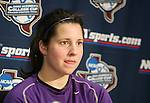3 December 2005: Cori Alexander. The University of Portland Pilots held a press conference the day before playing in the NCAA Women's College Cup, the Division I Championship soccer game at Aggie Soccer Stadium in College Station, TX.