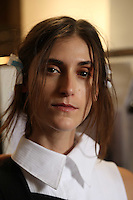 SEP 29 ANN DEMEULEMEESTER backstage at Paris Fashion Week