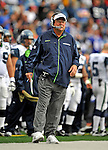 7 September 2008:  Seattle Seahawks' Head Coach Mike Holmgren looks toward the line of scrimmage during a game against the Buffalo Bills at Ralph Wilson Stadium in Orchard Park, NY. The Bills defeated the Seahawks 34-10 in the season opening game...Mandatory Photo Credit: Ed Wolfstein Photo