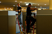 NEW YORK, USA - SEPT 14, People work at United Nations Headquarters during preparations for the 71st General Assembly in New York on September 14, 2016. photo by VIEWpress