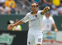 LA Galaxy forward Landon Donovan giving orders. The Columbus Crew and the LA Galaxy played to a 1-1 tie at Home Depot Center stadium in Carson, California on Sunday May 17, 2009.   .