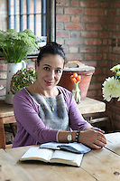 Kally Ellis, founder of McQueens Florist. Her and her husband, Damien decided to add an extension onto thier London home to house a larger, more stylish kitchen for their family