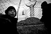 Swiebodzin 06.11.2010 Poland<br /> Workers wait to fix the head of a giant statue of Jesus Christ onto its body in Swiebodzin, 110 km (68 miles) west of Poznan. The statue of Jesus Christ that its builders say will be the largest in the world is fast rising from a Polish cabbage field and local officials hope it will become a beacon for tourists.<br /> Photo: Adam Lach / Newsweek Polska / Napo Images<br /> <br /> Montaz kornonowanej glowy najwiekszego na swiecie posagu Jezusa Chrystusa ufundowanego przez lokalnego ksiedza w Swiebodzinie, Sylewstra Zawadzkiego.<br /> Fot: Adam Lach / Newsweek Polska / Napo Images
