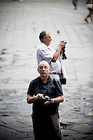 Tourists, Florence, Italy, Europe, 2007, © Stephen Blake Farrington