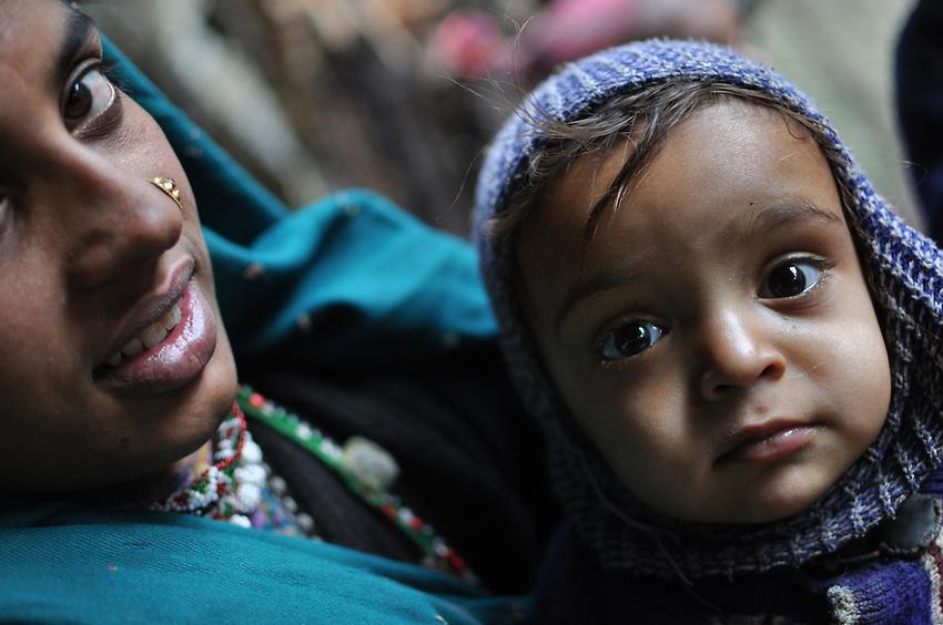 Akloo and baby Hasina