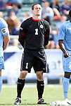 13 November 2011: North Carolina's Scott Goodwin. The University of North Carolina Tar Heels defeated the Boston College Eagles 3-1 at WakeMed Stadium in Cary, North Carolina in the Atlantic Coast Conference Men's Soccer Tournament championship game.