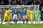 Rangers v St Johnstone&hellip;26.10.16..  Ibrox   SPFL<br />Steven Anderson and Rob Kiernan square-up too each other<br />Picture by Graeme Hart.<br />Copyright Perthshire Picture Agency<br />Tel: 01738 623350  Mobile: 07990 594431