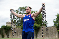 Max Lahiff of Bath Rugby in action during a Bath Rugby photoshoot on June 21, 2016 at Farleigh House in Bath, England. Photo by: Rogan Thomson for Onside Images
