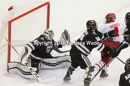 Hayden Hawkey (PC - 31), Jacob Bryson (PC - 18), Brandon Hickey (BU - 4) - The Boston University Terriers tied the visiting Providence College Friars 2-2 on Saturday, December 3, 2016, at Agganis Arena in Boston, Massachusetts.