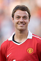 Johnny Evans. Manchester United defeated Philadelphia Union, 1-0.