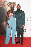 LONDON, UK. October 9, 2016: Lupita Nyong'o &amp; David Oyelowo at the London Film Festival 2016 premiere of &quot;Queen of Katwe&quot; at the Odeon Leicester Square, London.<br /> Picture: Steve Vas/Featureflash/SilverHub 0208 004 5359/ 07711 972644 Editors@silverhubmedia.com