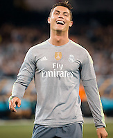 Melbourne, 24 July 2015 - Cristiano Ronaldo of Real Madrid reacts after missing a goal in game three of the International Champions Cup match between Manchester City and Real Madrid at the Melbourne Cricket Ground, Australia. Real Madrid def City 4-1. (Photo Sydney Low / AsteriskImages.com)