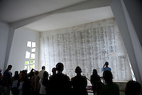 Wall displaying the names of all who died on the USS Arizona during the bombing of Pearl Harbour, and all survivors who have since died. USS Arizona Memorial Museum, Pearl Harbour, Hawai.