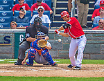 26 July 2013: Washington Nationals catcher Kurt Suzuki in action against the New York Mets at Nationals Park in Washington, DC. The Mets shut out the Nationals 11-0 in the first game of their day/night doubleheader. Mandatory Credit: Ed Wolfstein Photo *** RAW (NEF) Image File Available ***