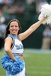 06 October 2007: UNC cheerleader. The University of North Carolina Tar Heels defeated the University of Miami Hurricanes 33-27 at Kenan Stadium in Chapel Hill, North Carolina in an Atlantic Coast Conference NCAA College Football Division I game.