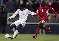 Eddie Johnson, left, Jose Anthony Torres, right, Panama vs USA, World Cup qualifier at RFK Stadium, 2004.