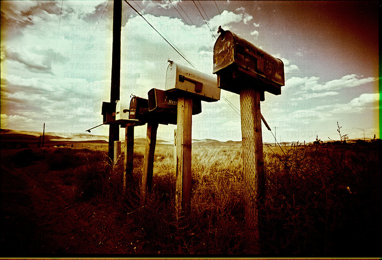 US mail boxes in the countryside