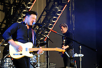 LONDON, ENGLAND - JULY 8: Marcus Mumford and Ted Dwane of 'Mumford &amp; Sons' performing at British Summertime, Hyde Park on July 8, 2016 in London, England.<br /> CAP/MAR<br /> &copy;MAR/Capital Pictures /MediaPunch ***NORTH AND SOUTH AMERICAS ONLY***