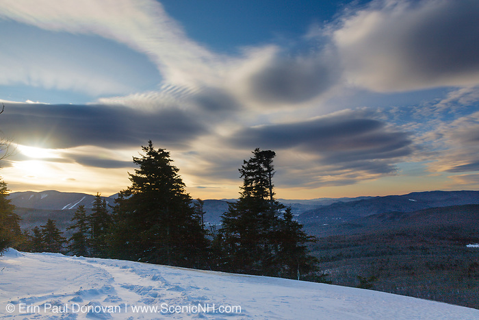 Franconia Notch State Park - Sunrise from the summit of Mount Pemigewasset in Lincoln, New Hampshire USA