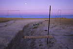A calm moonset in the Conata Basin, South Dakota.