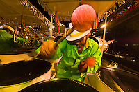 Man playing steel drums, Panorama Finals, Queens Park Savannah, Trinidad Carnival, Port of Spain, Trinidad & Tobago