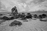 Apo Island in black & white