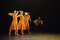 London, UK. 26.05.2016. dotdotdot dance present new work as a Wild Card in the Lilian Baylis Studio, Sadler's Wells. dotdotdot dance is a new company of three young British dancers who have fallen in love with flamenco. Magdalena Mannion, yinka Esi Graves and Noemi Luz all trained in different dance styles before adopting this art form. Picture shows: Magdalena Mannio, Noemi Luz, Yinka Esi Graves. Photograph © Jane Hobson.