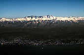 Russia's Sochi city sits along the Black Sea coast on the foot of snow peaked mountains..The summer-and-winter resort is bidding to host the 2014 Winter Olympics.