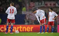 USSBALL   1. BUNDESLIGA    SAISON 2012/2013    10. Spieltag   Hamburger SV - FC Bayern Muenchen                    03.11.2012 Artjoms Rudnevs (li) und Rafael van der Vaart (re, beide Hamburger SV) sind nach dem 0:2 enttaeuscht