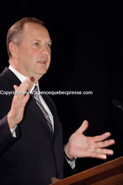Montreal (Qc) CANADA - October 17 2011 - George Cope, CEO, BCE (Bell Canada Enterprise)