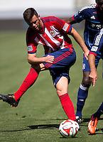 Carson, California - March 9, 2014: Chivas USA  defeated the Chicago Fire 3-2 to begin their Major League Soccer (MLS) season match at StubHub Center stadium.