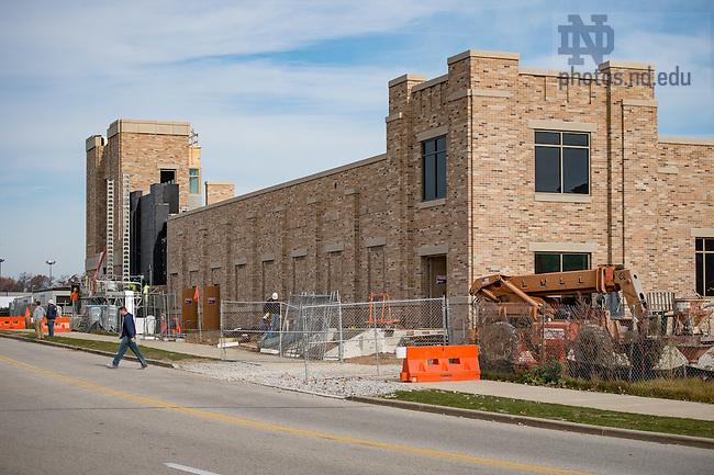 November 17, 2016; Harris Track & Field construction (Photo by Matt Cashore/University of Notre Dame)