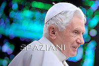 Pope Benedict XVI  during his weekly general audience on October 20, 2010 at St Peter's square at The vatican. Pope Benedict XVI said that he will create 24 new cardinals next month in a key announcement for the Catholic Church as 20 of them will have the power to elect his eventual successor