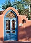 Blue door in Santa Fe, New Mexico