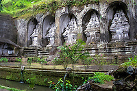 Bali, Gianyar, Gunung Kawi. An 11th century temple complex close to Tampaksiring. On the eastern part there is five temples or shrines.