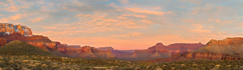 Sunrise from Tipoff Point, Grand Canyon National Park, AZ.