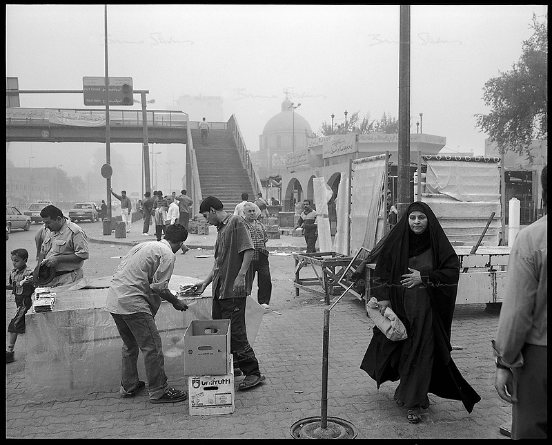 """Baghdad, Iraq, October 2002..The Iraqi population has been badly affected by 12 years of UN imposed sanctions, wages are very low (about $15/month for a public servant).  But since the """"food for oil"""" agreement, widescale smuggling makes it possible to find almost everything in Baghdad's souks.."""