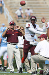 09 September 2006: Virginia Tech backup quarterback Ike Whitaker throws a pass before the game. The University of North Carolina Tarheels lost 35-10 to the Virginia Tech Hokies at Kenan Stadium in Chapel Hill, North Carolina in an Atlantic Coast Conference NCAA Division I College Football game.