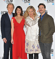 Bill Nighy, Gemma Arterton, Lone Scherfig and Sam Claflin at the &quot;Their Finest&quot; 60th BFI London Film Festival press conference &amp; photocall, The May Fair Hotel, Stratton Street, London, England, UK, on Thursday 13 October 2016.<br /> CAP/CAN<br /> &copy;CAN/Capital Pictures /MediaPunch ***NORTH AND SOUTH AMERICAS ONLY***