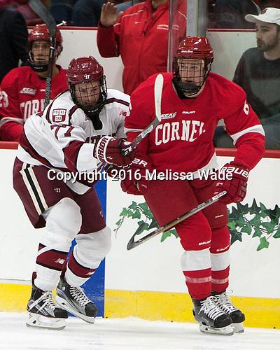 Lewis Zerter-Gossage (Harvard - 77), Holden Anderson (Cornell - 6) - The Harvard University Crimson defeated the visiting Cornell University Big Red on Saturday, November 5, 2016, at the Bright-Landry Hockey Center in Boston, Massachusetts.