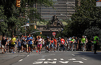 New York City, NY. 16 August 2014.New Yorkers attend the annual Summer Streets celebration where some streets are closed to traffic and open instead to bikers, in-line skaters, walkers and wanderers. Photo by Kena Betancur/VIEWpress