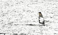 Plymouth. Great Britain, 2009 Coastal Rowing Championships [Windsurfer in action]  Saturday  24/10/2009  [Mandatory Credit Peter Spurrier/Intersport Images]