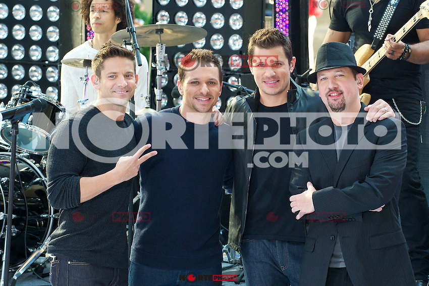 NEW YORK, NY - AUGUST 17: 98 Degrees perform on NBC's Today Show Toyota Concert Series at Rockefeller Center in New York City. August 17, 2012. &copy;&nbsp;mpi44/MediaPunch Inc. /NortePhoto.com<br />