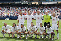 USA's starting XI. The United States defeated Panama 3-1 in a shoot out after a scoreless game to win the CONCACAF Gold Cup at Giant's Stadium, East Rutherford, NJ, on July 24, 2005.