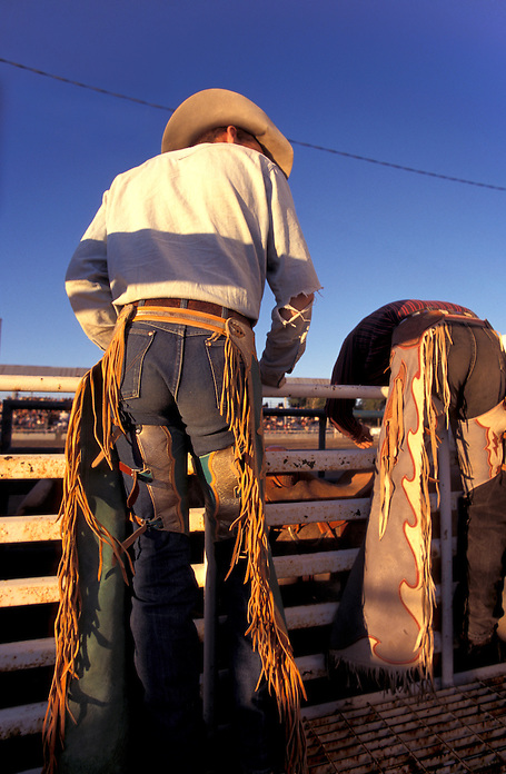 Cowboys at Fremont County & Fair Rodeo, Riverton, Wyoming, USA
