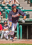 21 March 2015: Atlanta Braves outfielder Seth Loman in action during a Split Squad Spring Training game against the Washington Nationals at Champion Stadium at the ESPN Wide World of Sports Complex in Kissimmee, Florida. The Braves defeated the Nationals 5-2 in Grapefruit League play. Mandatory Credit: Ed Wolfstein Photo *** RAW (NEF) Image File Available ***