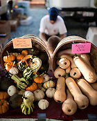 September 4, 2009. Durham, NC..The Durham Farmer's Market.